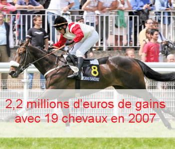 son cheval, princesse d'anjou, a gagné en mai dernier le grand-steeple-chase de