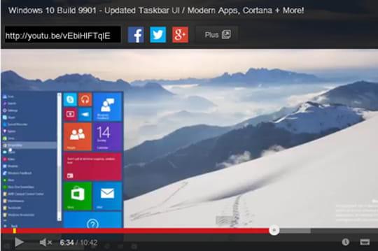 Windows 10 Consumer Preview : première vidéo de présentation