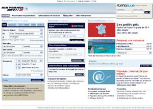 page d'accueil air france