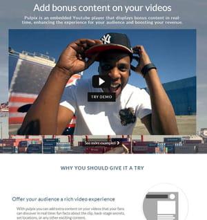 pulpix booste les vidéos sur youtube.