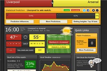 le site getinlive.com, édité par sports predictions