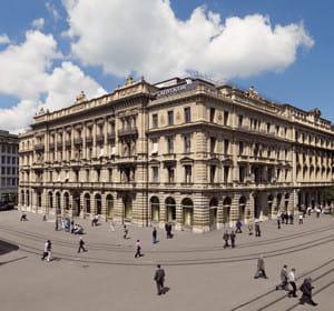 le siège de crédit suisse, à zurich.