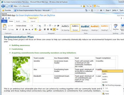 un document word ouvert depuis internet explorer