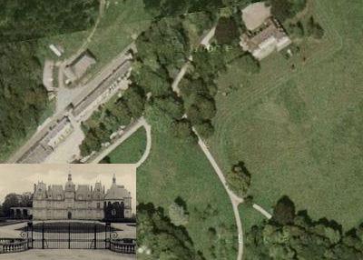 une vue aérienne du château d'ognon.