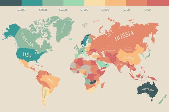 Le revenu disponible dans tous les pays du monde en infographie