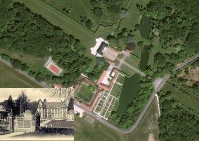 une vue aérienne du château de la mormaire.