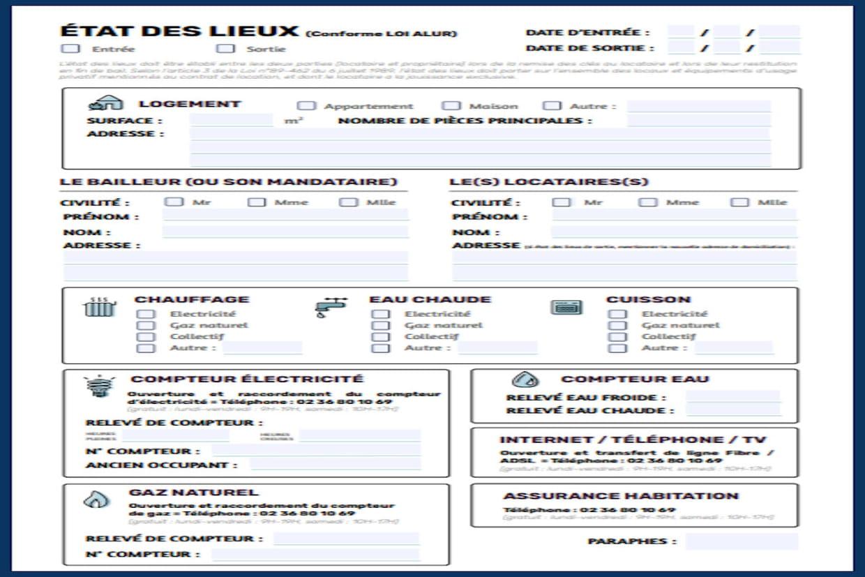 Etat Des Lieux Modele Simple Et Gratuit Word Et Pdf