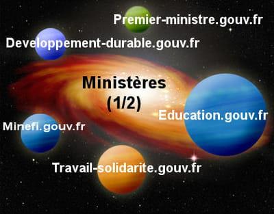la galaxie web des ministères (1/2).