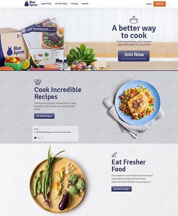 blue apron envoie chaque semaine à ses abonnés des ingrédients et une recette