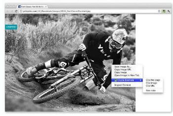 après unclic droit, evernote web clipper propose d'enregistrer du texte ou une