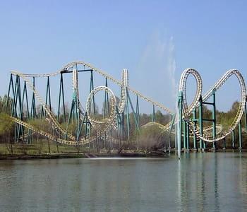 l'attraction goudurix, au parc astérix.