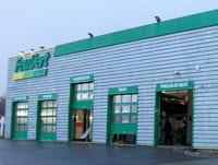 une centre automobile feu vert.