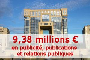 montant calculé par la rédaction à partir du budget primitif 2011