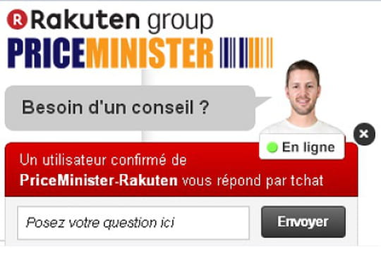Priceminister-Rakuten déploie un chat communautaire sur ses pages