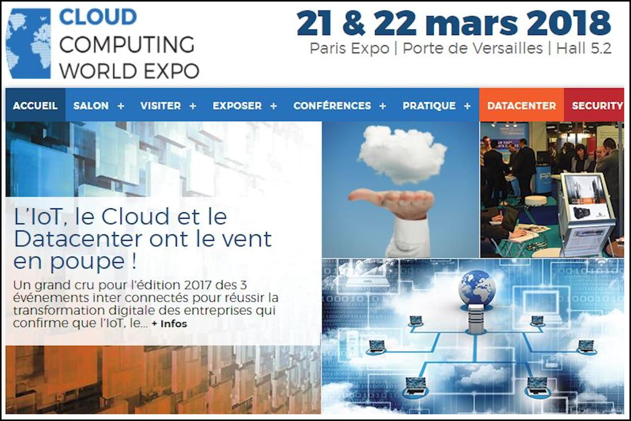 La cloud computing world expo vous donne rendez vous les - Programme des salons porte de versailles ...