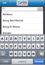 capture d'écran de l'application iphone de vsc.