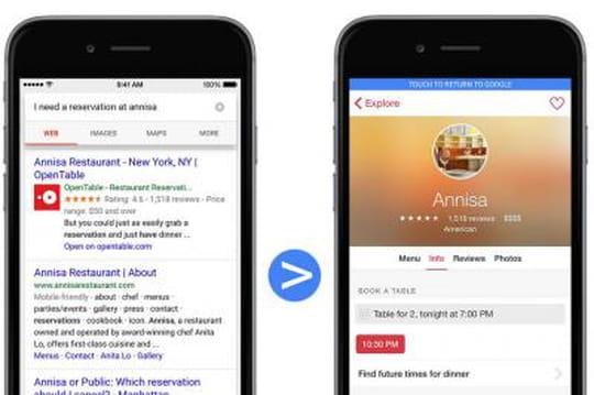 Google se lance dans l'indexation des apps iOS
