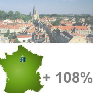 la 5e ville française qui gagne le plus d'habitants est chessy.