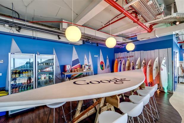 Ambiance plage chez Google à Tel Aviv