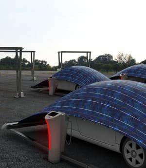 la tente est fabriquée grâce à un textile multicouches recouvert d'un panneau