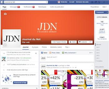 les pages facebook d'entreprise, comme ici celle du jdn, sont librement