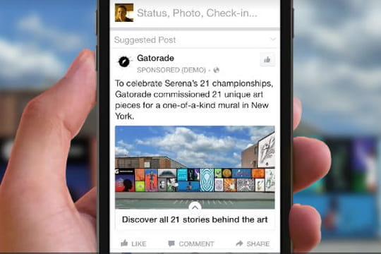 Facebook lance de nouveaux formats de pub mobile très immersifs