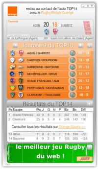 orange, sponsor officiel du championnat de france de top 14 a développé un