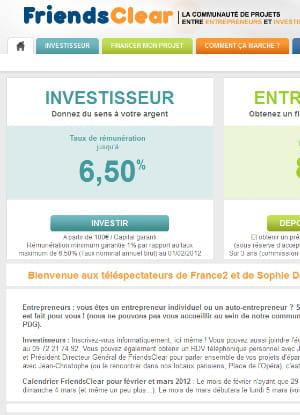 friendsclear propose des prêts entre 3 000 et 25 000 euros