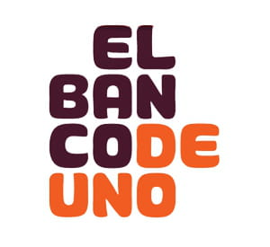 el banco de uno a opté pour une typographie 'carronde'.