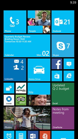 capture d'écran de windows phone 8