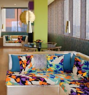 l'hôtel missoni koweït, où la couturière rosita missoni a été chargée de donner
