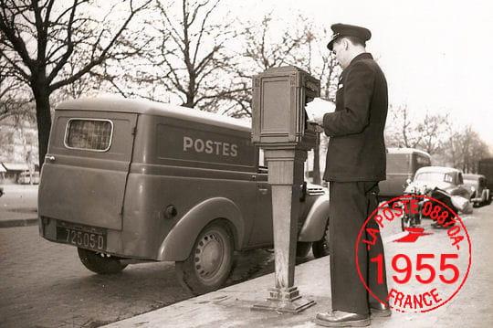 Dans les années 50, La Poste relève lecourrierde125000boitesauxlettres...
