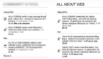 les utilisateurs peuvent suivre des actualités choisies, les commenter et les