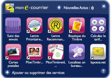 application 'mon e-courrier'