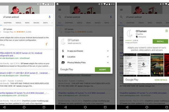 Des apps Android bientôt téléchargées directement depuis les résultats de Google?