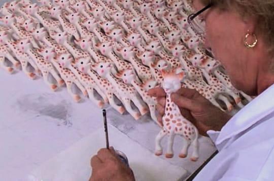 Fabrication girafe Sophie