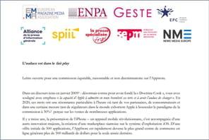 Les médias français écrivent à Apple pour dénoncer sa commission