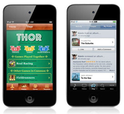 gamecenter et ping : les deux principales innovations de l'ios 4.1