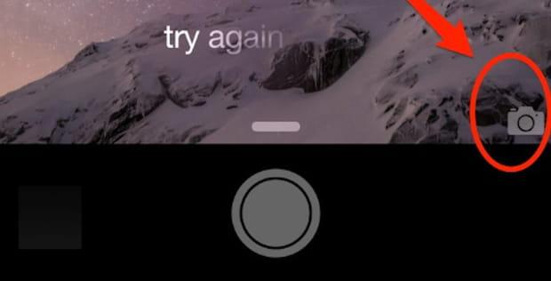 Prenez une photo rapidement en utilisant l'icône sur l'écran de verrouillage