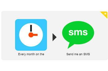cette recette permet d'envoyer un sms lors des événements récurrents.