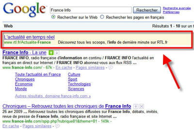 chamboulant toutes règles du référencement, searchwiki ne remet cependant pas en