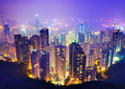 une vue de hong-kong.