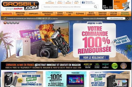 Info JDN : Pixmania rachète Grosbill à Auchan