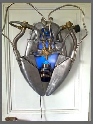cœur métallique, d'arnaud rogiez, 750 euros.