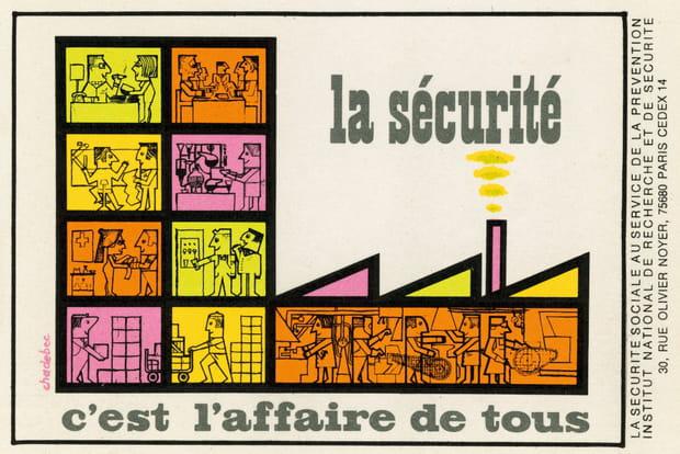 Super Sécurité au travail : 60 ans d'affiches LZ52