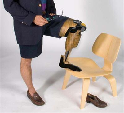 le bois, un matériau de prothèse plus humain, chaleureux