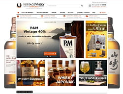 heritage-whisky.fr : exemple de site basé sur wizishop.