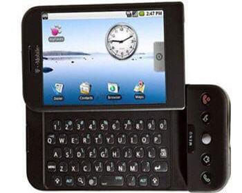 g1, le premier téléphone sous os google android.