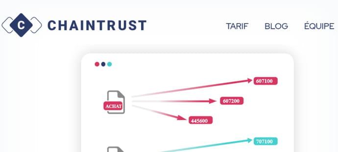 Chaintrust lève 2,5millions d'euros pour automatiser la saisie comptable