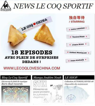 mailing 'le coq loves china'
